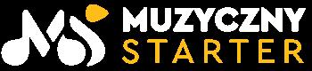 Muzyczny Starter logo białe